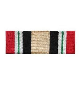 "MidMil Embroidered Iraqi Freedom Ribbon Patch 3.5"" wide x 1.1"" high"