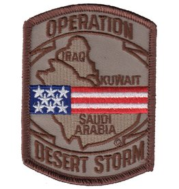 "MidMil Embroiderd Operation Desert Storm Patch with Map 2.5"" wide x 3.4"" high Desert"