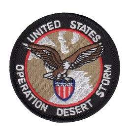 """MidMil Embroidered Operation Desert Storm Patch with Eagle on Shield 3"""""""