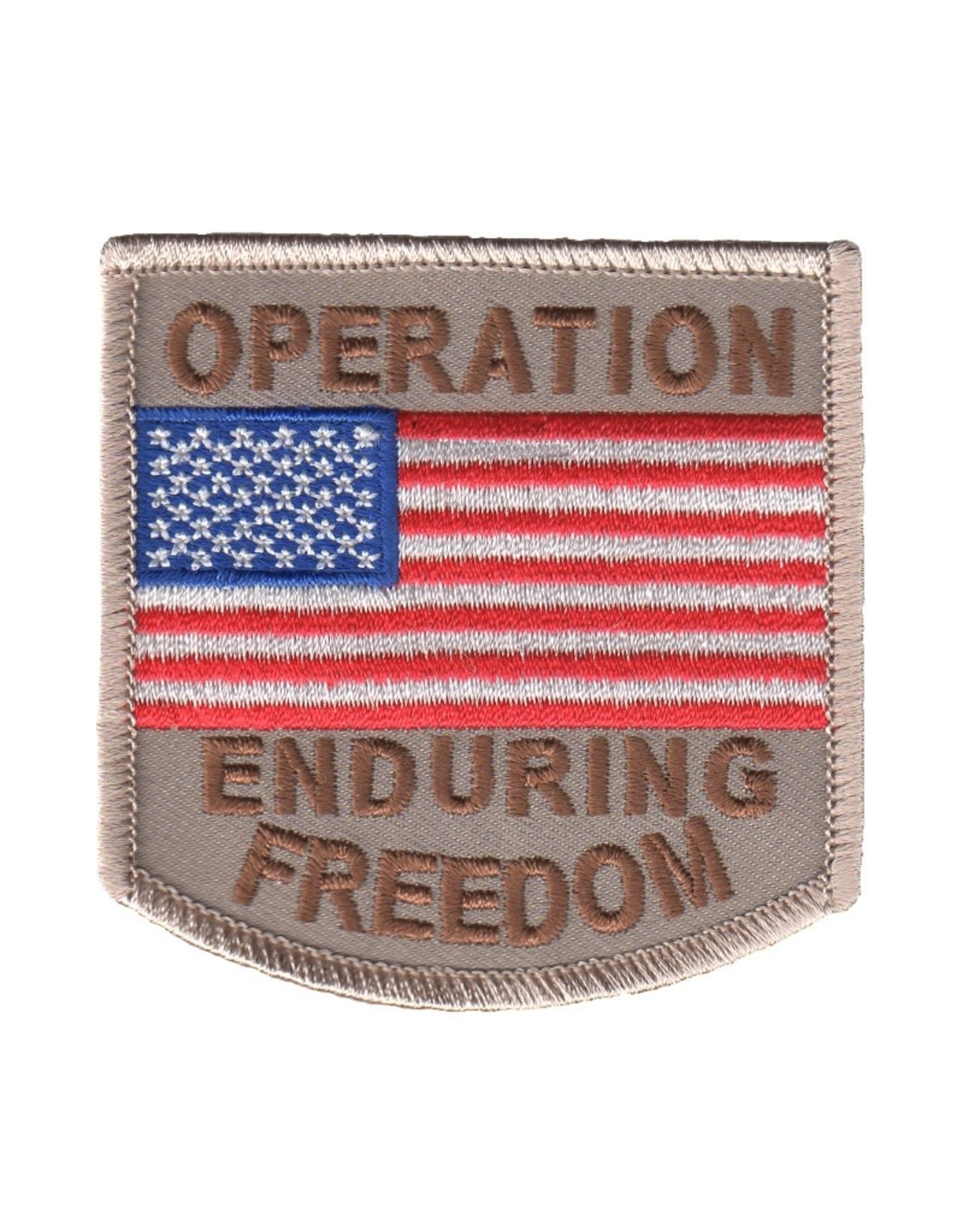 """MidMil Embroidered Operation Enduring Freedom Patch 3"""" wide x 3"""" high Desert"""