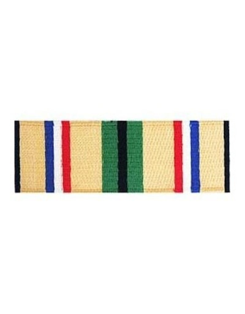 "MidMil Embroidered Desert Storm Campign Ribbon Patch 3.4"" wide x 1.1"" high"