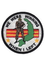 """MidMil Embroidered We Were Winning When I Left Patch with Vietnam map and Grunt 3"""""""