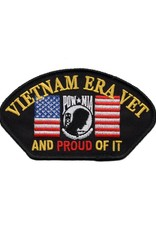 """MidMil Embroidered Vietnam Era Vet and Proud of It Patch with American Flag and POW*MIA Emblem 4.2"""" wide x 2.9"""" high"""