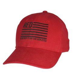 MidMil RED Friday Hat with Stars and Stripes Red