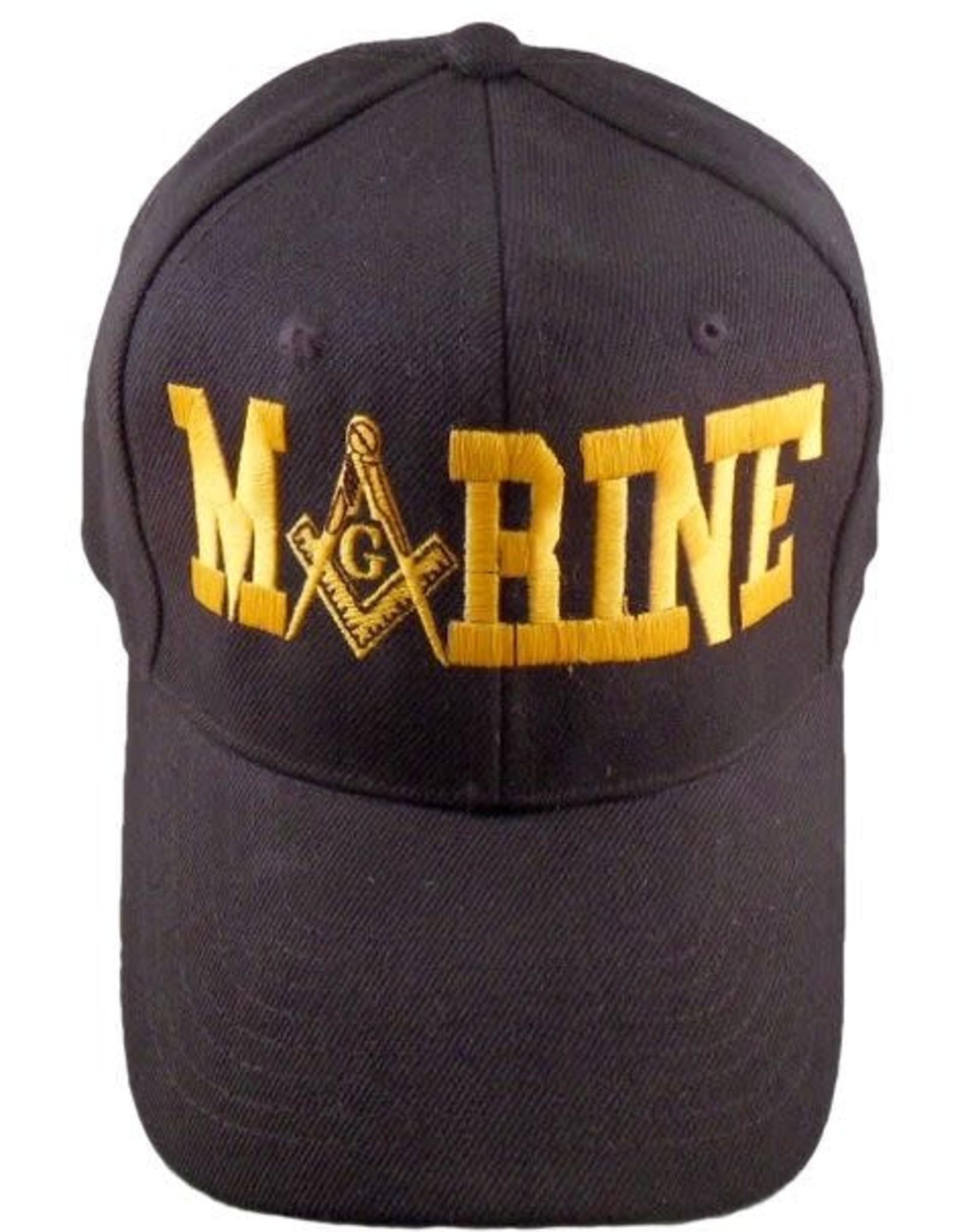 MidMil Mason Emblem M 'A' RINE Hat Black