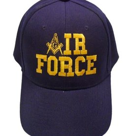 MidMil Mason Emblem 'A' IR FORCE Hat Dark Blue