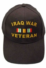 MidMil Iraq War Veteran Hat with Ribbon Black