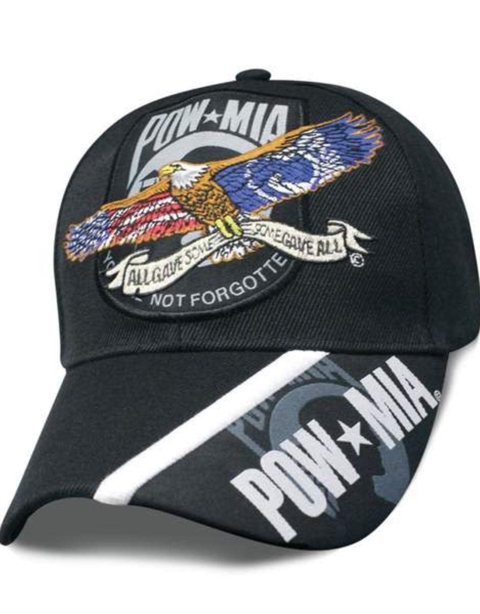 MidMil POW*MIA Hat with Soaring Eagle and POW#MIA on Bill Black