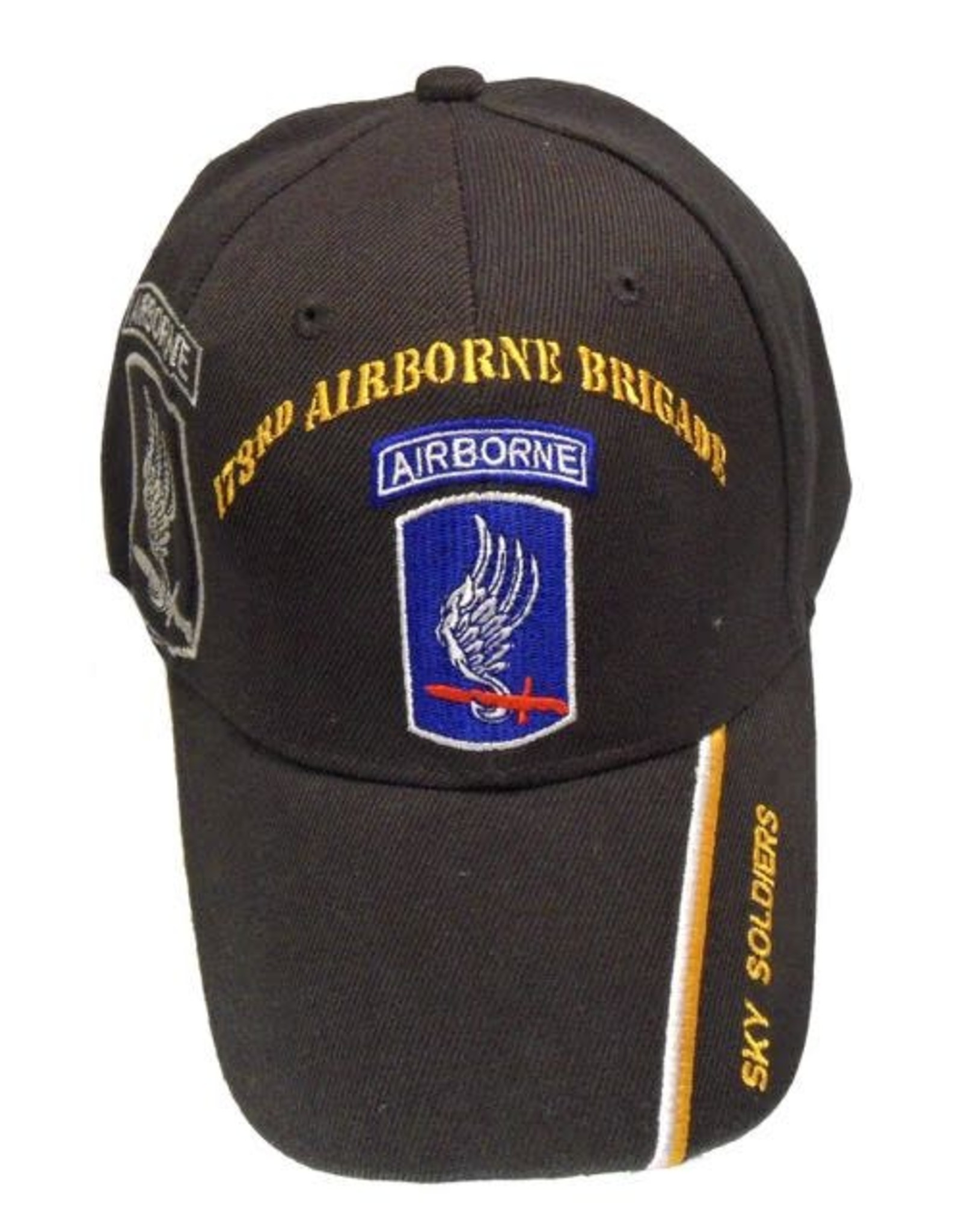 MidMil 173rd Airborne Brigade Hat with Shadow and Motto on Bill Black
