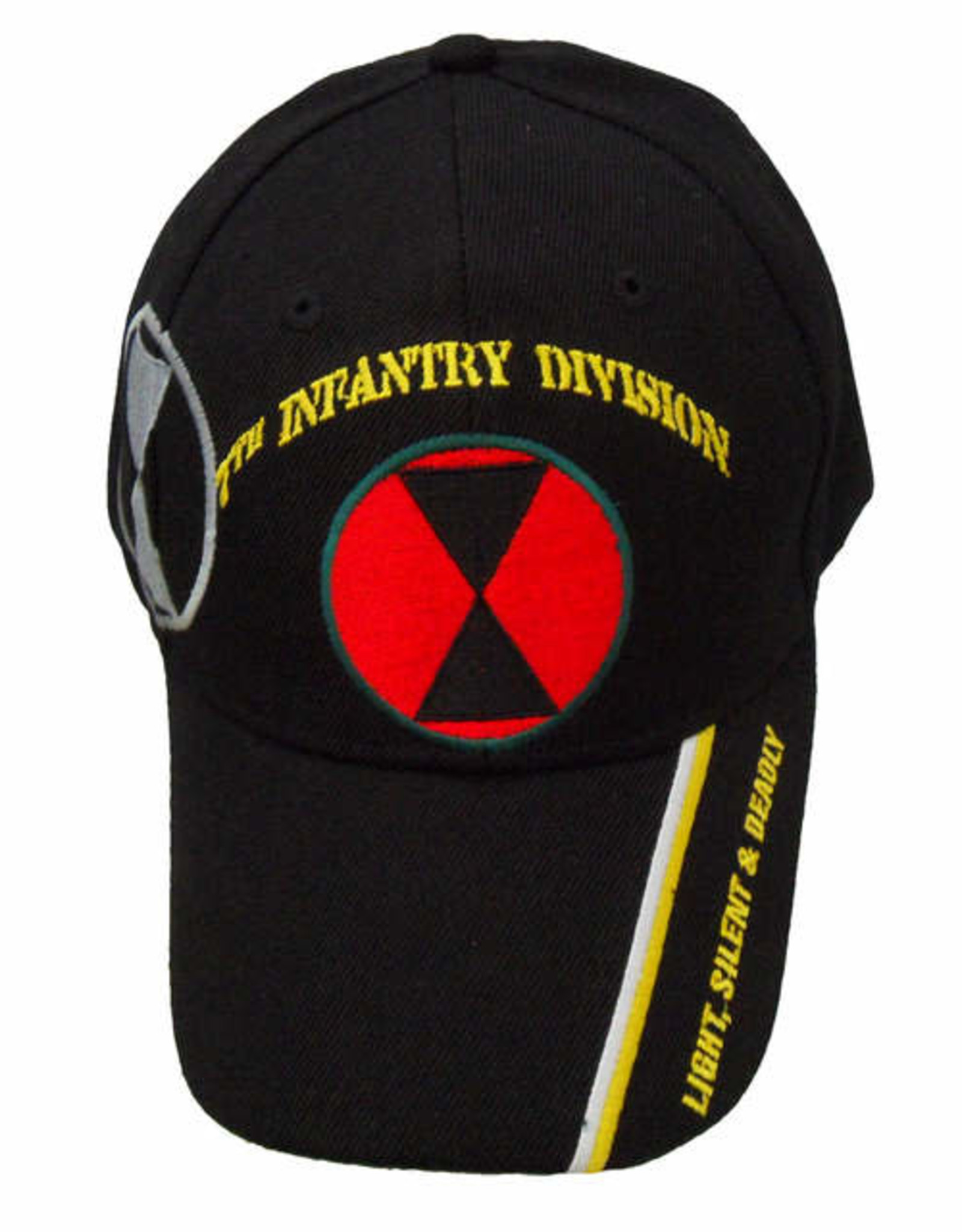 MidMil Army 7th Infantry Division Hat with Emblem, Shadow, and Motto on Bill Black