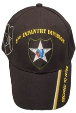 MidMil Army 2nd Infantry Hat with Emblem and Shadow and Motto on Bill Black