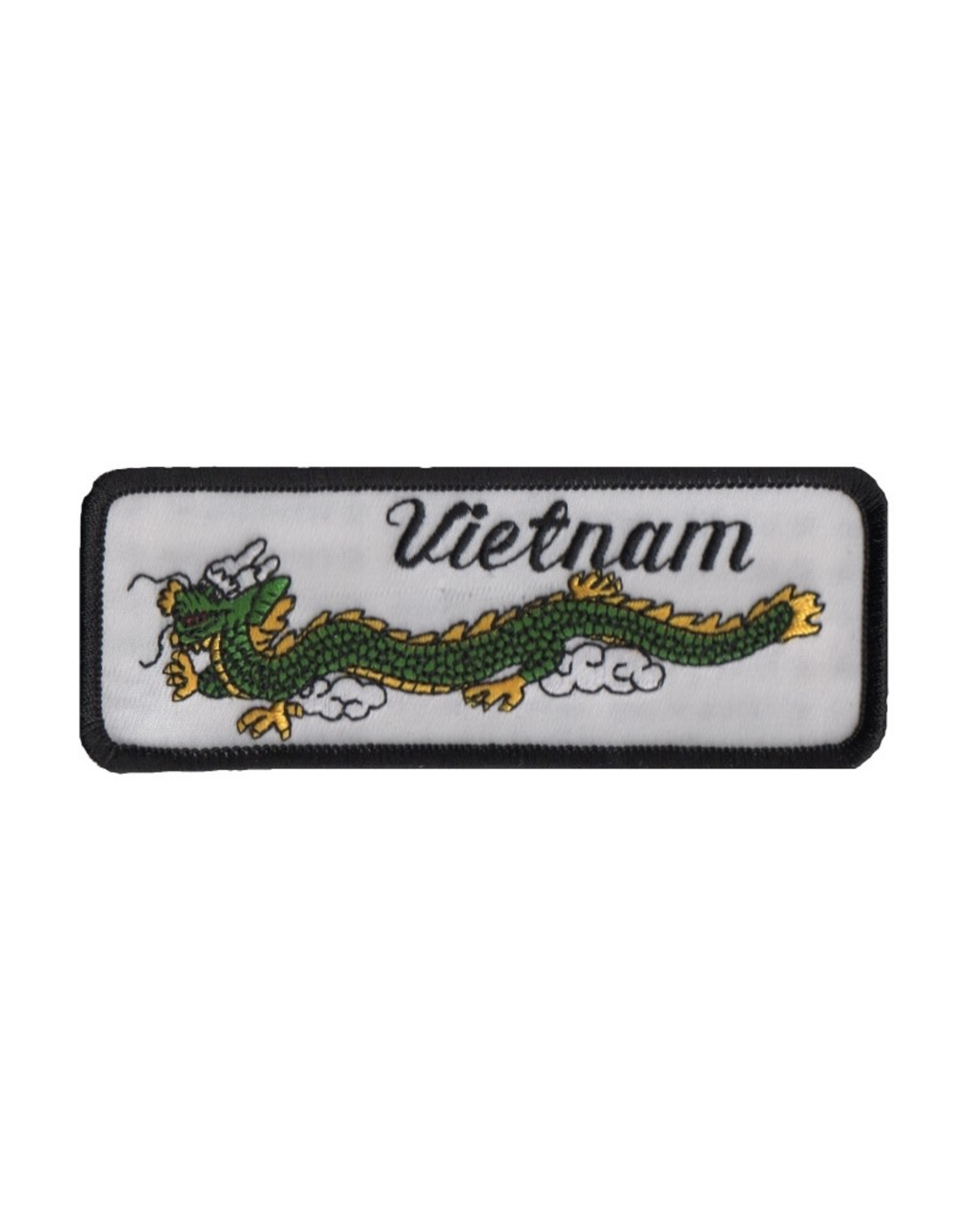"""MidMil Embroidered Vietnam Patch with  Dragon 4.8"""" wide x 1.8"""" high"""