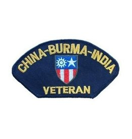 "MidMil Embroidered China-Burma-India Veteran Patch 5.2"" wide x 2.8"" high Black"