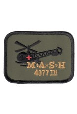 """MidMil Embroidered Korea M.A.S.H 4077th Patch with Helicopter 3.5"""" wide x 2.7"""" high"""