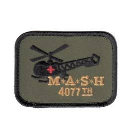 "MidMil Embroidered Korea M.A.S.H 4077th Patch with Helicopter 3.5"" wide x 2.7"" high"