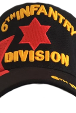 MidMil Army 6th Infantry Division Hat with Emblem and Over Shadow  Black