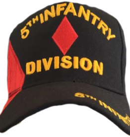 MidMil Army 5th Infantry Division Hat with Over Shadow  Black