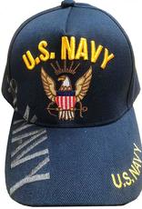MidMil U.S. Navy Hat with Eagle Anchor Emblem Dark Blue