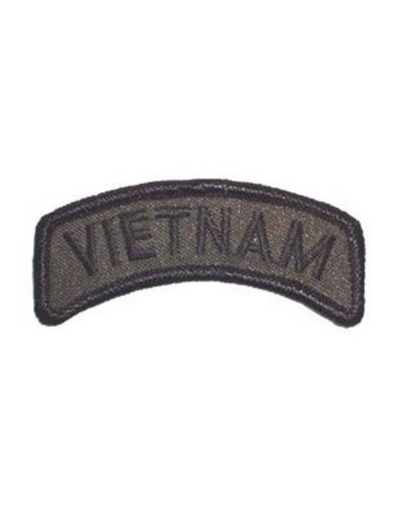 """MidMil Embroidered Vietnam Tab Patch 3"""" wide x 1.3"""" high Olive Drab"""