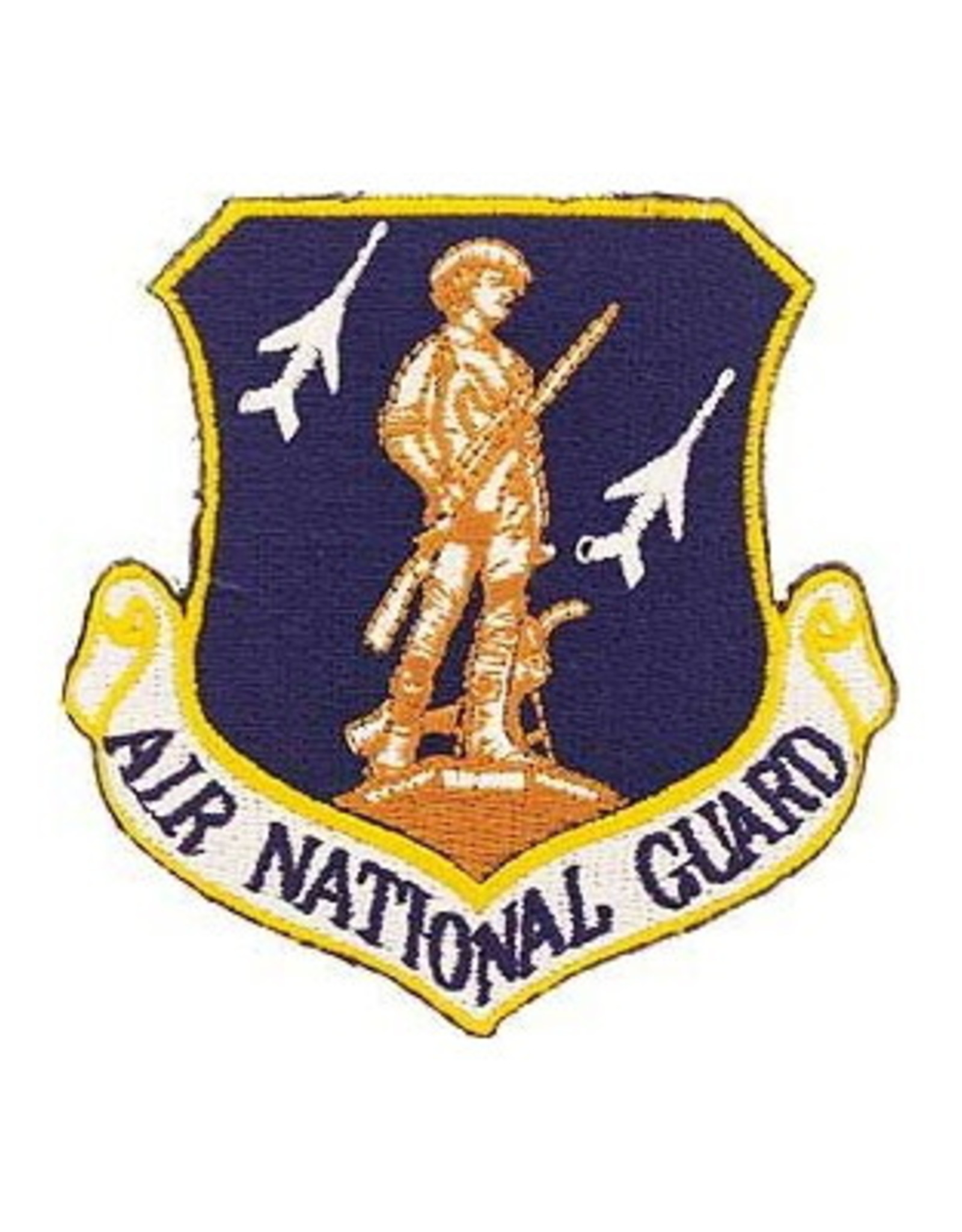 "MidMil Embroidered Air National Guard Patch 3"" wide x 3.2"" high"