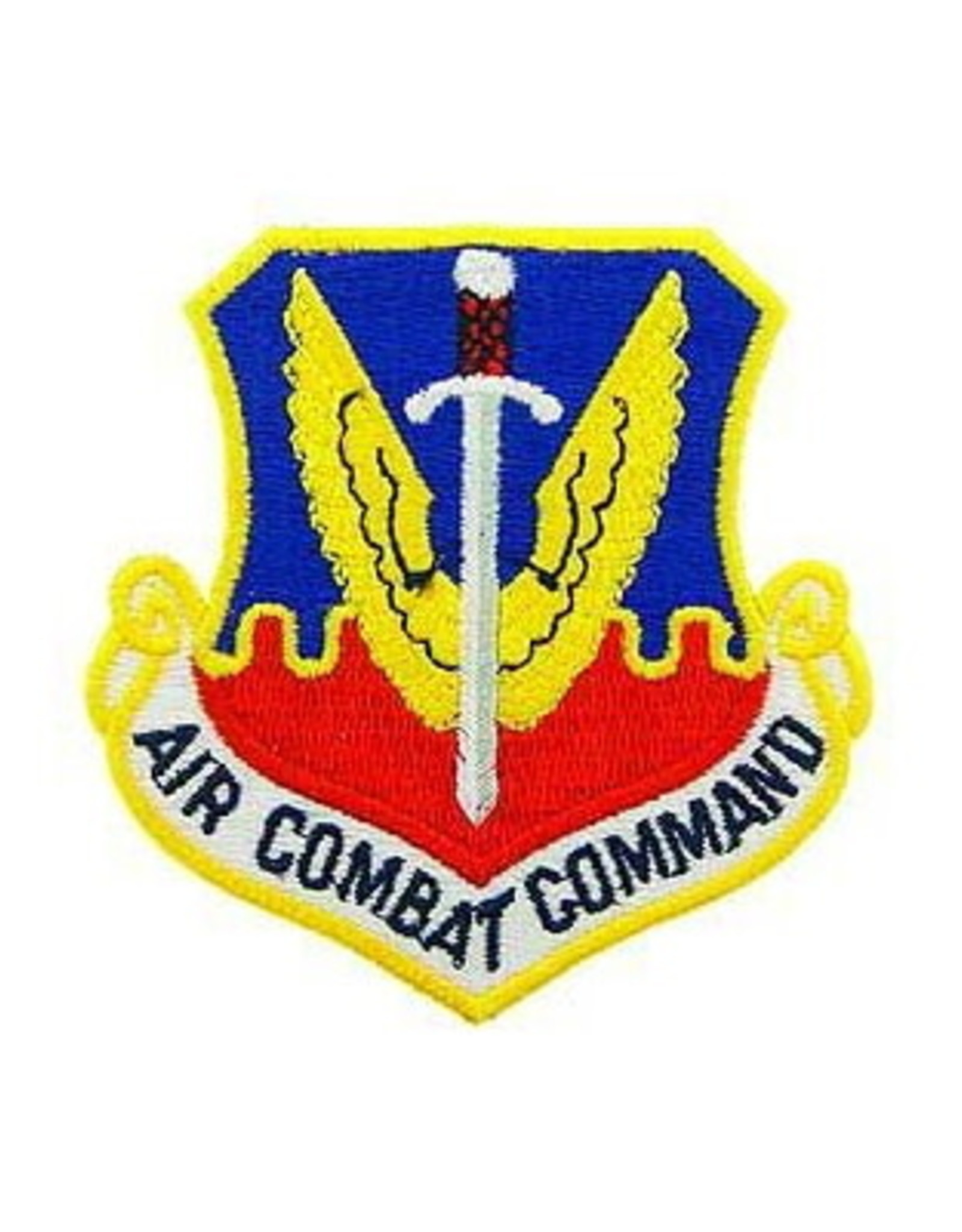 """MidMil Embroidered Air Force Air Combat Command Emblem Patch 3"""" wide x 3.2"""" high"""