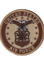 "MidMil Embroidered Subdued Air Force Seal 3"" Desert"