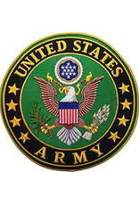 """MidMil Embroidered Army Seal Back Patch 10"""""""