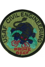"""MidMil Embroidered Subdued USAF Civil Engineer """"Prime Beef"""" Patch 3"""""""