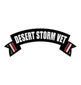 "MidMil Embroidered Desert Storm Vet Rocker Back Patch 10"" wide x 4"" high"