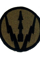 """MidMil Embroidered Subdued Army Air Defense Artillery Center Patch 2.5"""" Olive Drab"""