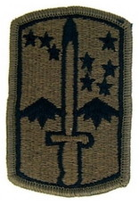 "MidMil Embroidered Subdued Army 172nd Infantry Brigade Emblem Patch 2"" wide x 3"" high Olive Drab"