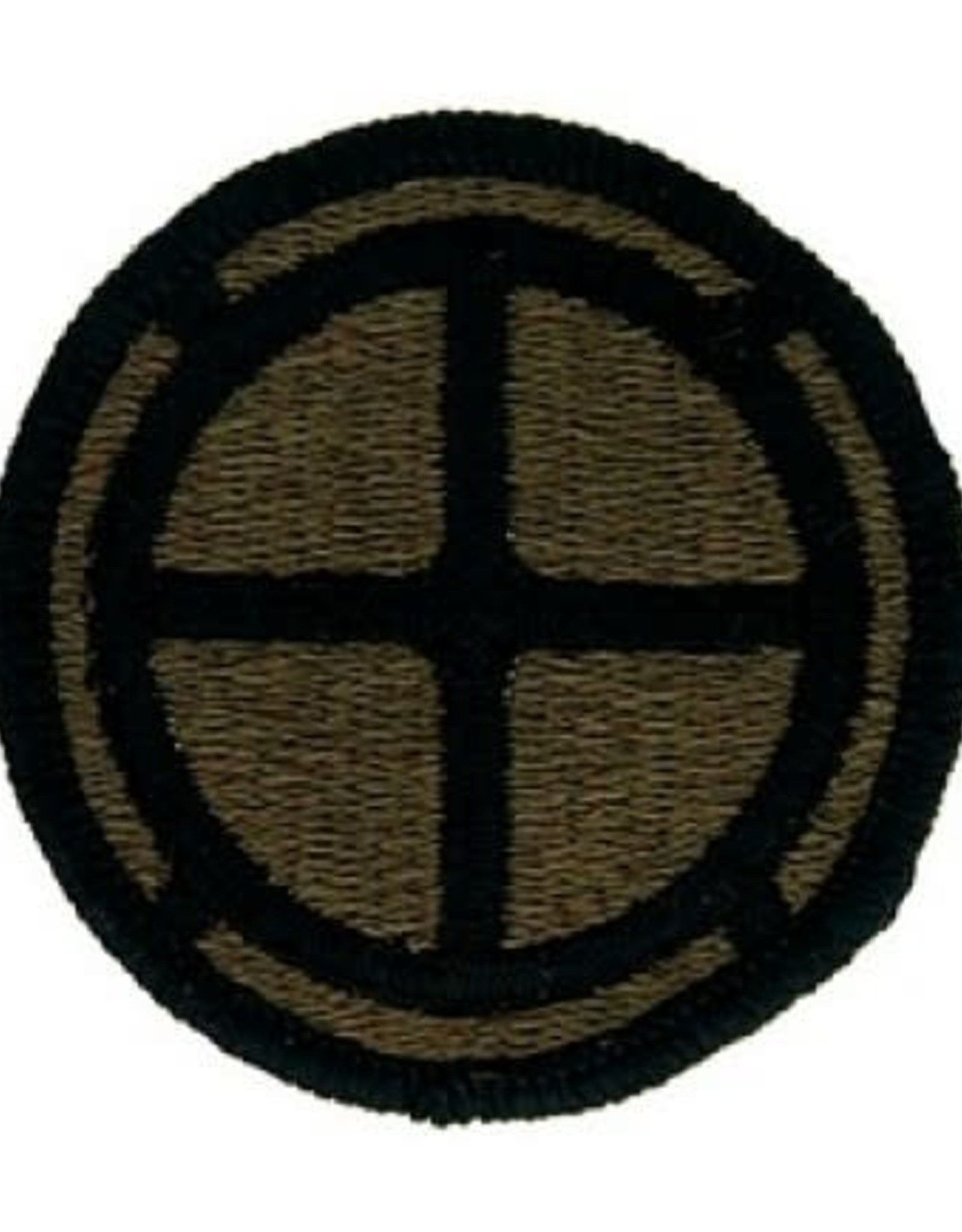 "MidMil Embroidered Subdued Army 35th Infantry Division Emblem Patch 2.2"" Olive Drab"
