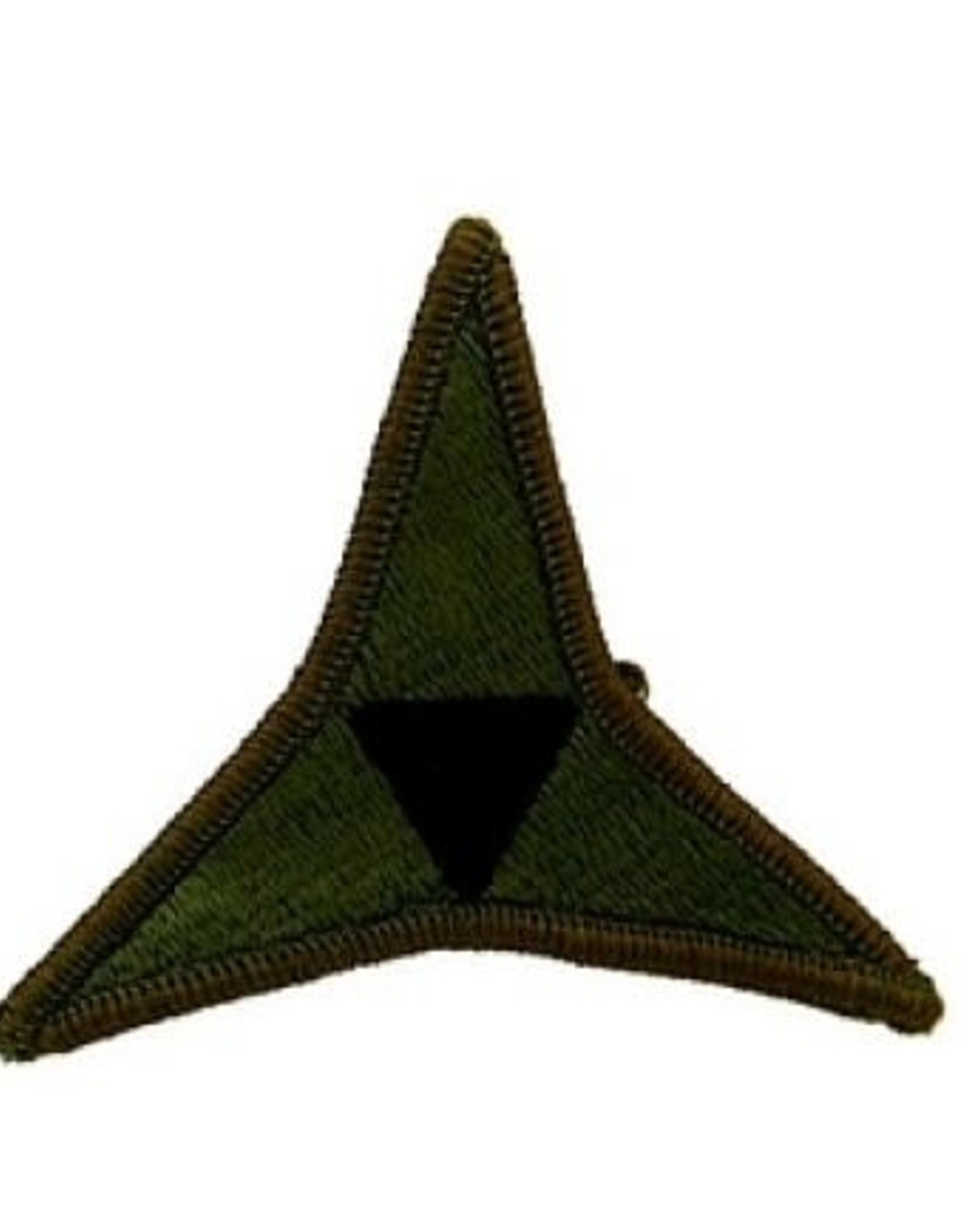 """MidMil Embroidered Subdued Army 3rd Corps Emblem Patch 3"""" wide x 2.6"""" high Olive Drab"""
