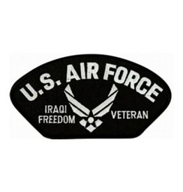 """MidMil Embroidered U.S. Air Force Iraqi Freedom Veteran Patch with Wings Emblem 5.2"""" wide x 2.7"""" high"""