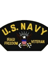 "MidMil Embroidered U.S. Navy Iraqi Freedom Veteran Patch with Emblem 5.2"" wide x 2.7"" high Black"