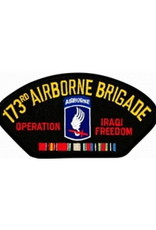 "MidMil Embroidered Army 173rd Airborne Brigade Operation Iraqi Freedom Patch with Emblem and Ribbons 5.2"" wide x 2.7"" high Black"