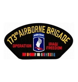 """MidMil Embroidered Army 173rd Airborne Brigade Operation Iraqi Freedom Patch 5.2"""" wide x 2.7"""" high"""