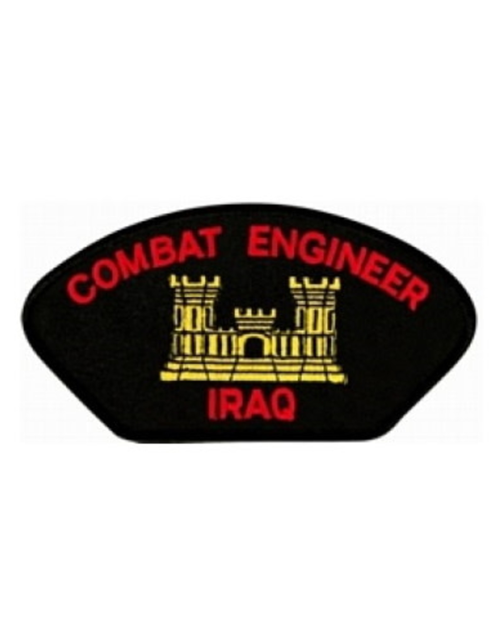 "MidMil Embroidered Army Combat Engineer Iraq Patch with Emblem 5.2"" wide x 2.7"" high"
