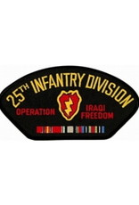 """MidMil Embroidered 25th Infantry Division Operation Iraqi Freecom Patch with Emblem and Ribbons 5.2"""" wide x 2.7"""" high"""