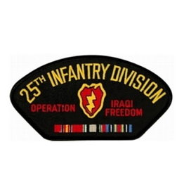 "MidMil Embroidered 25th Infantry Division Operation Iraqi Freecom Patch 5.2"" wide x 2.7"" high"