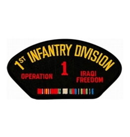 "MidMil Army 1st Infantry Division Operation Iraqi Freedom Patch 5.2"" wide x 2.7"" high Black"