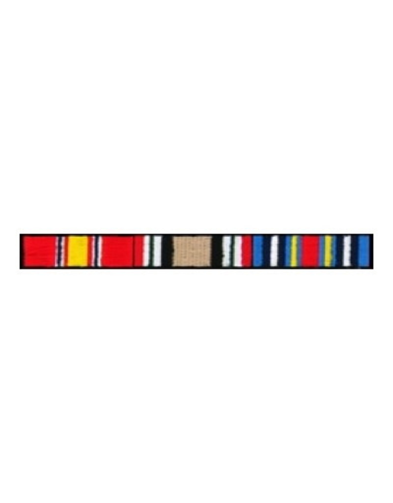 "MidMil Embroidered Iraq Ribbons Patch 4.4"" wide x .5"" high"