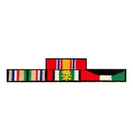 """MidMil Embroidered Desert Storm Ribbons Patch 4.3"""" wide x 0.9"""" high"""