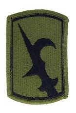 """MidMil Embroidered Subdued Army 67th Infantry Breigade Emblem Patch 2"""" wide x 3"""" high Olive Drab"""