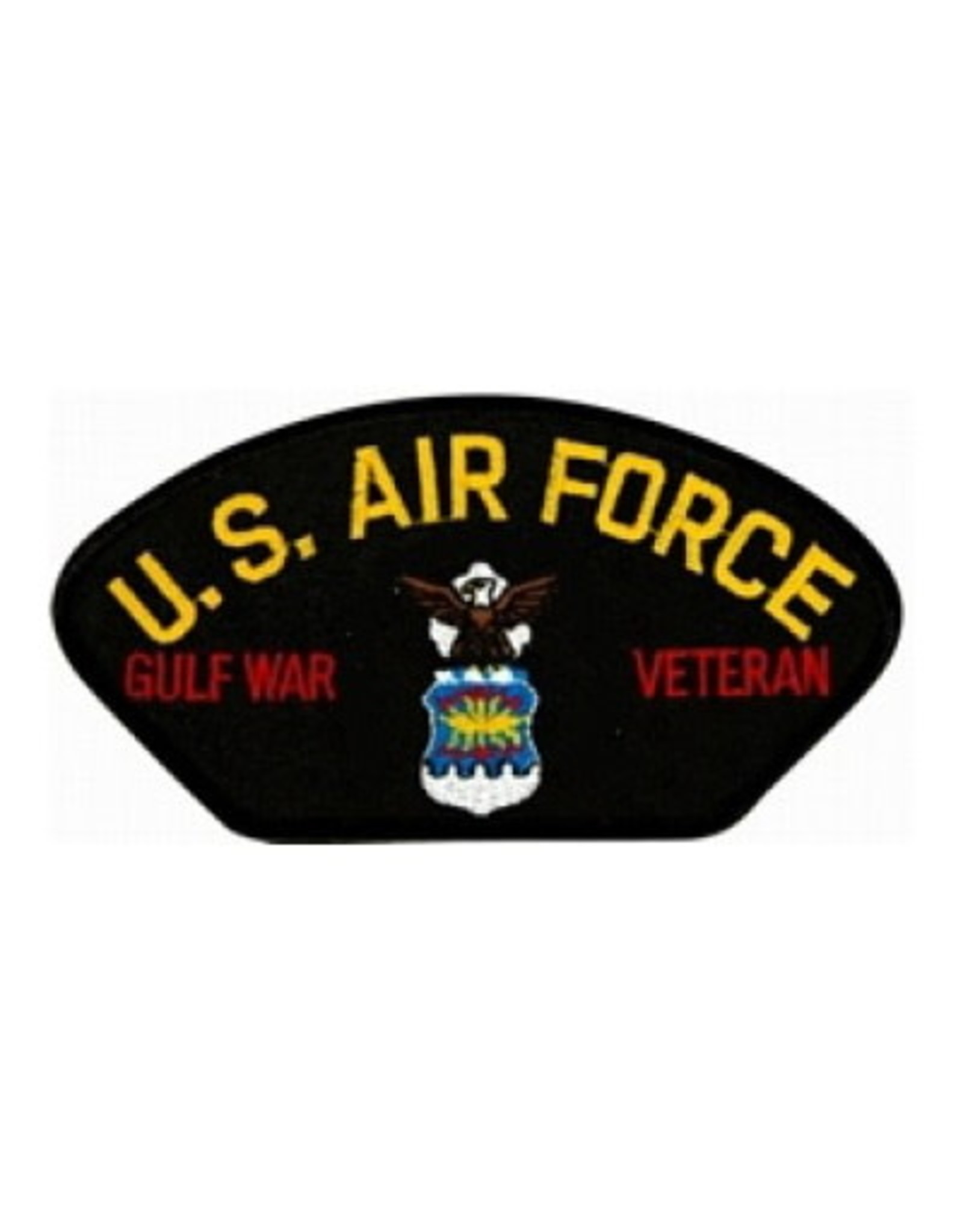 "MidMil Embroidered U.S. Air Force Gulf War Veteran Patch with Emblem 5.2"" wide x 2.7"" high Black"