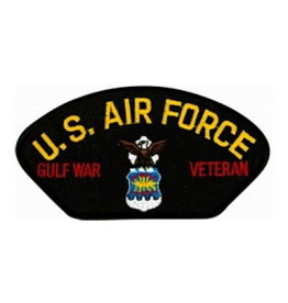 """MidMil Embroidered U.S. Air Force Gulf War Veteran Patch with Emblem 5.2"""" wide x 2.7"""" high Black"""