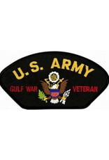"MidMil Embroidered U.S. Army Gulf War Veteran Patch with Emblem 5.2"" wide x 2.7"" high Black"