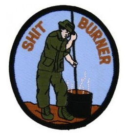 """MidMil Embroidered Vietnam Shit Burner Patch 2.8"""" wide x 3.2"""" high"""