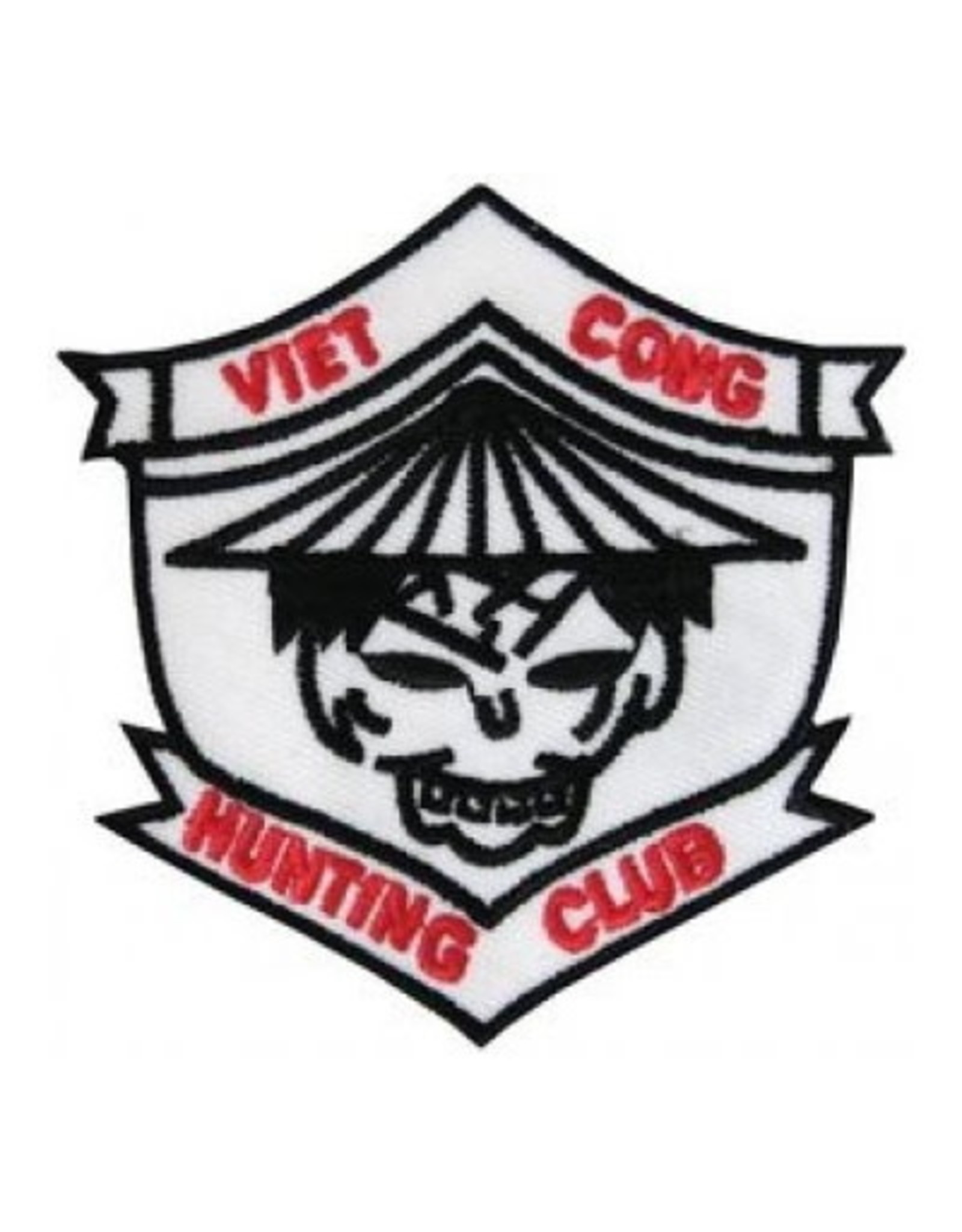 """MidMil Embroidered Viet Cong Hunting Club Patch 3.0"""" wide x 3.0"""" high"""