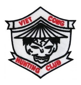 """MidMil Embroidered Viet Cong Hunting Club Patch 3.6"""" wide x 3.2"""" high"""